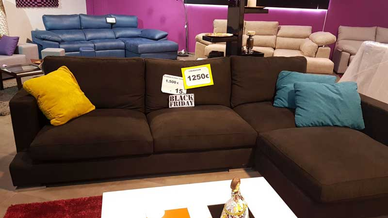 Sofa marron blackfriday dekosofa